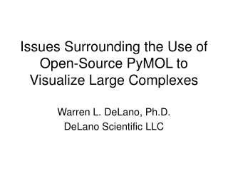 Issues Surrounding the Use of Open-Source PyMOL to Visualize Large Complexes