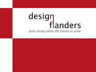 Introducing  Design  Flanders Johan Valcke