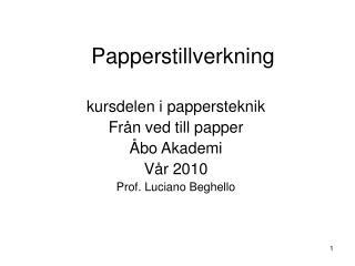 Papperstillverkning