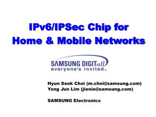 IPv6/IPSec Chip for Home & Mobile Networks