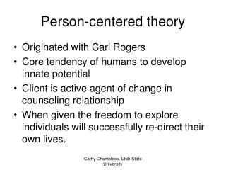 Person-centered theory