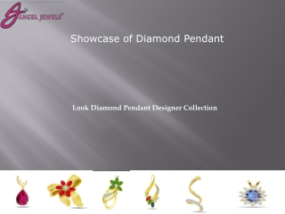 Collection of Diamond Pendant designs