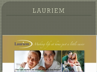Lauriem personal care services
