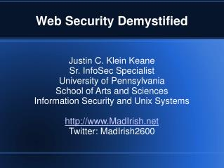 Web Security Demystified