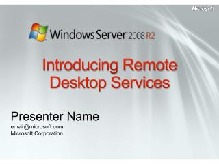 Introducing Remote Desktop Services