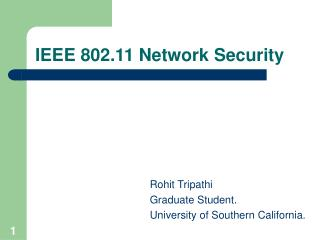 IEEE 802.11 Network Security