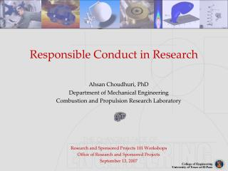Responsible Conduct in Research