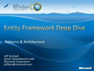 Entity Framework Deep Dive