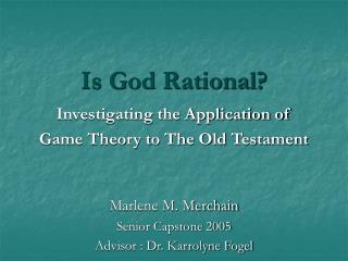 Is God Rational?