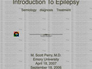 Introduction To Epilepsy Semiology diagnosis    Treatment