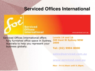 Serviced Offices in Sydney, Australia