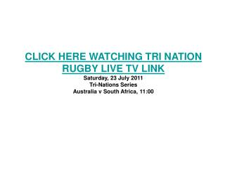 watch south africa vs australia live rugby stream 2011