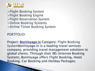 Flight Booking System, Flight Booking Engine