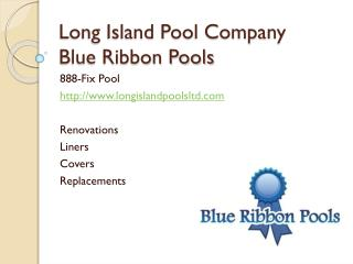 long island pool company, blue ribbon pools