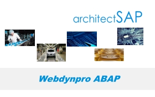 Webdynpro with ABAP
