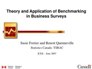 Theory and Application of Benchmarking in Business Surveys