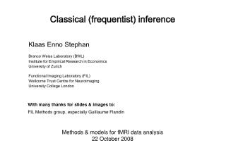 Classical (frequentist) inference