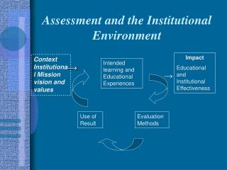 Assessment and the Institutional Environment