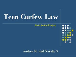 Teen Curfew Law