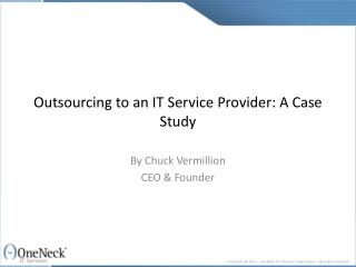 outsourcing to an it service provider: a case study