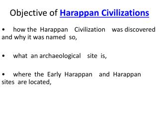 Harappan Civilizations