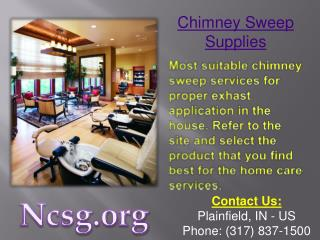 Chimney Sweep Supplies