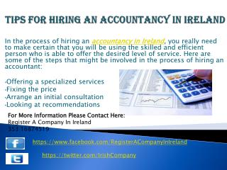 Tips for Hiring an Accountancy in Ireland