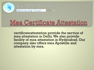 Attestation by MEA