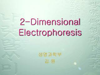 2-Dimensional Electrophoresis