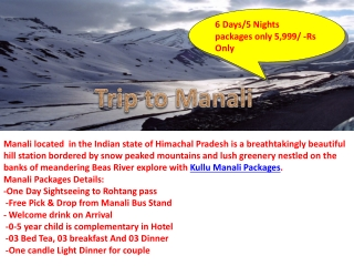 Book online Travel packages for Manali Kerala