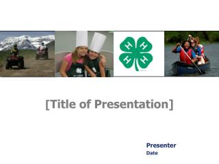 [ Title of Presentation]