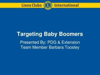 Targeting Baby Boomers