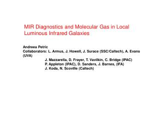 MIR Diagnostics and Molecular Gas in Local Luminous Infrared Galaxies
