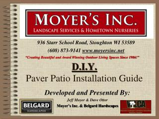 D.I.Y.  Paver Patio Installation Guide