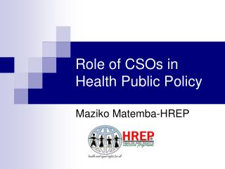 Role of CSOs in Health Public Policy
