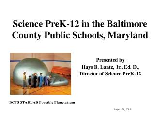 Science PreK-12 in the Baltimore County Public Schools, Maryland