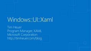 Windows::UI:: Xaml