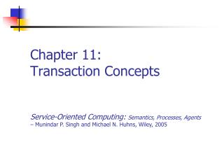 Chapter 11: Transaction Concepts