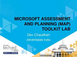 MICROSOFT ASSESSMENT AND PLANNING ( MAP) TOOLKIT LAB