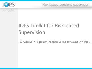 IOPS Toolkit for Risk-based Supervision
