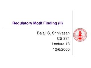 Regulatory Motif Finding (II)