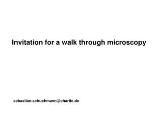 Invitation for a walk through microscopy