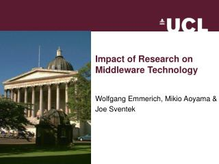Impact of Research on  Middleware Technology