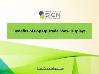 Pop Up Trade Show Displays help to promote better product