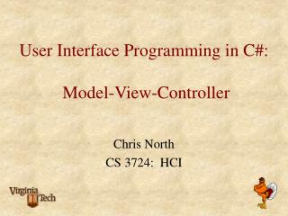 User Interface Programming in C#:  Model-View-Controller