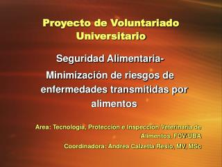 Proyecto de Voluntariado Universitario