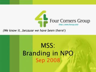 MSS: Branding in NPO Sep 2008