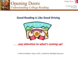 Good Reading is Like Good Driving