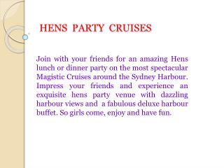 hens  party  cruises