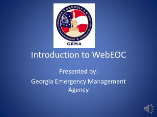 Introduction to  WebEOC